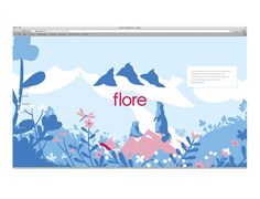 illustrated campaign for Evian (January 2016)