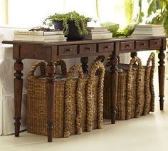 Tivoli Console Table - Tuscan Chestnut stain | Pottery Barn