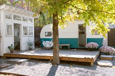 I am finding out at my age that I just want my vintage trailer set up like this for a retreat. I dont want to pull it and go places. ;-)