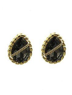 Black Onyx Jewel Chain Earrings from Helen's Jewels