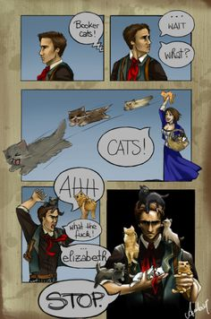 Booker Cats! by ~AmberAndrews on deviantART. I don't fully understand. But I don't care. :p