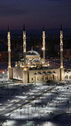 Mosque The Heart of Grozny, the capital of Chechnya, Russia
