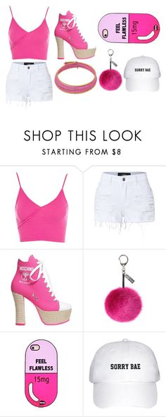 """DRACULAURA"" by raulyariadna on Polyvore featuring Topshop, LE3NO, Moschino and Helen Moore"