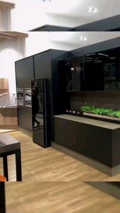 Modern Kitchen Interiors, Luxury Kitchen Design, Kitchen Room Design, Contemporary Kitchen Design, Home Room Design, Kitchen Cabinet Design, Luxury Kitchens, Modern House Design, Interior Design Kitchen