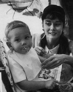 Audrey & son