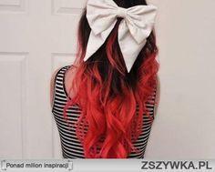 czarno czerwone włosy - Szukaj w Google
