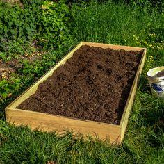 ...Kompost und Erde rein...