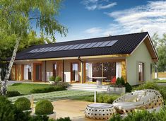 Eryk G1 (30 stopni) - zdjęcie 1 Lampang, Dream House Exterior, Design Case, My House, House Plans, Home And Garden, Farmhouse, Cottage, House Design