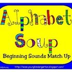 Kid friendly alphabet and picture cards to use for matching beginning letter sounds to picture cards. Includes suggestions for using the cards....
