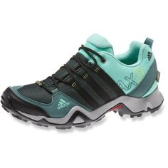 The lightweight, waterproof women's adidas AX2 GTX Hiking Shoes are built for outdoor athletes who move fast on moderate trails through the mountains, rain or shine.