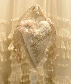 lace heart by tatteredlaces on Etsy