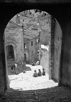 """"""" Impression of steep and narrow streets of old Campobasso, Italy, 3 May 1944"""""""