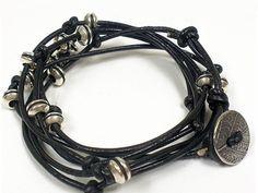 Black Leather Slide Wrap Bracelet Kit at Artbeads.com
