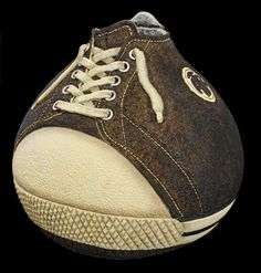 "Isn't this the cutest gourd shoe you've ever seen? ""Above the Rim"" gourd shoe by Jordan Straker"