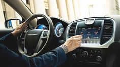 The 2014 Chrysler 300C John Varvatos Luxury Edition comes standard with the largest touchscreen in its class.
