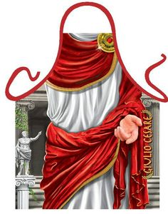 Kitchen men apron Julius Caesar roman emperor Gag Gifts one size 100% Poly ITATI #ITATI