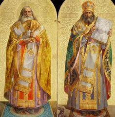Святители Афанасий Великий (слева) и Иоанн Златоуст. Иконы Исаакиевского собора в С.-Петербурге