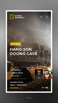 National Geographic Mobile in UI/UX