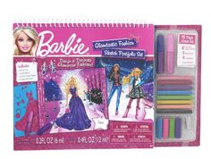Barbie Glamtastic Fashion Sketch Portfolio by Fashion Angels. $12.99. Embellish your Glamtastic designs with the foil stickers and glitter paint!. Instructions include tips and inspiration. Artist Set: 8 Tree-Free Colored Pencils, 2 Glitter Paints, 4 Pencil Grips, Pencil Sharpener. Design a dream wardrobe for Barbie!. Create the perfect clothing and accessory combinations. Includes 30 Barbie® formatted sketch pages featuring 6 different scenes. Portfolio Set: 5 Stencil S...
