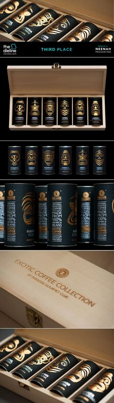 The Dieline 2015: 3rd Place Non-Alcoholic Beverages- Exotic coffee collection — The Dieline | Packaging & Branding Design & Innovation News