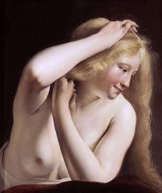 Salomon de Bray (1597-1664)  Young Woman Combing Her Hair  Olio su tela, 54 x 46 cm Musée du Louvre
