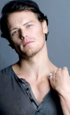 Sam Heughan trying to attract vampires! #iwouldbitehim