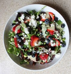 Salad with Spicy Pecans, Berries, & Goat Cheese-Scallion Dressing   Yes to Yolks