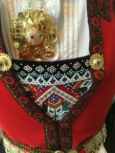 Bilderesultat for brystduk Folk Costume, Costumes, Folk Embroidery, Going Out Of Business, Norway, Textiles, Belts, Beautiful, Dresses