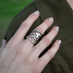 Cicada Cut Out Ring by Carrie Bilbo
