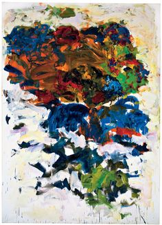 JOAN MITCHELL    Yves, 1991    Oil on canvas    110 1/4 x 78 3/4 inches  (280 x 200 cm)    © Estate of Joan Mitchell. Courtesy Joan Mitchell Foundation