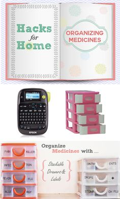 Hacks for Home: How to Store Medicines Medicine Organization, Home Hacks, Organizing, How To Make, Inspiration, Ideas, Biblical Inspiration, Household Tips, Thoughts