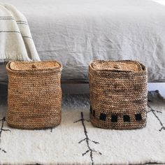 Made using natural banana plant fibers, our shaded storage basket is delicately crocheted by master artisans in India. Organize any room with this elegant and unique woven basket. Crochet Storage, Banana Plants, Plant Fibres, Bedroom Storage, Storage Baskets, Hand Crochet, Straw Bag, Interior Decorating, Bedroom Inspiration