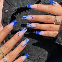 Long Square Acrylic Nails, Bling Acrylic Nails, Acrylic Nails Coffin Short, Simple Acrylic Nails, Summer Acrylic Nails, Best Acrylic Nails, Colorful Nails, Squoval Acrylic Nails, Acrylic Nail Designs Coffin