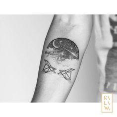 Little #dream #landscape⠀  Done at @karbone.tattoo. By KALAWA Tattooer - Tattoo dotwork artist from Aix-en-provence (FRANCE) Tatouage paysage onirique.  #tatouage #dotwork #sky #skytattoo #landscapetattoo #cloud #chair #space #spacetattoo #vegantattoo #star #ciel #kalawatattooer #kalawa #blackworkers #blacktattooart #aixenprovence #illustration #espace #inked #skin #blackink #graphisme #art #vegantattoo #tattrx #fubiz #scene360 #tattoodo