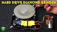 How to convert an old, broken computer SATA hard drive(HDD) into a very nice, variable speed, diamond grinding sanding tool for metal (sharpening tools) or s. Computer Hard Drive, Electronic Circuit Projects, Electronics Basics, Sharpening Tools, Homemade Tools, Diy Tools, Amazing Life Hacks, Diy Drawers, Disk Drive