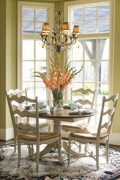 Habersham Plantation - a fine woodworking company based in GA    Habersham Home | Gracious Living Habersham Breakfast room designs    those chairs bring the Mad Hatter to mind..