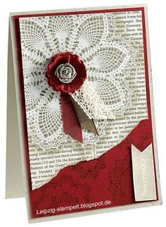 stampin up doily christmas cards - Google Search