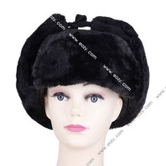 Unisex Winter Sequined Plush Cotton Korean Style Russian Hat #eozy
