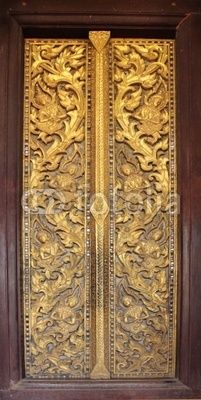 The Buddhist monastery window, Laos - alternate for the wardrobe doors
