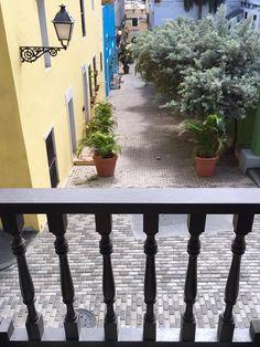 Vista hacia el Callejón del Tamarindo foto por Puerto Rico Historic Building Drawings Society.