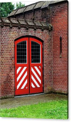 Jenny Rainbow Fine Art Photography Acrylic Print featuring the photograph Red And White Door Of Outbuilding. De Haar Castle by Jenny Rainbow Art Prints For Home, Home Art, Fine Art Prints, Framed Prints, Rainbow Decorations, Thing 1, White Doors, Fine Art Photography, Clear Acrylic