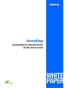 HCL Whitepaper: HCL's Sustainability Offering by HCL Technologies via slideshare