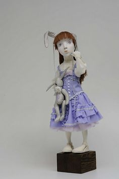 """Купить Авторская кукла """"Мой зайчик"""" - кукла, авторская кукла, паперклей, paperclay, подарок"""