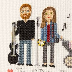 Close up of family of musicians.Here we can see guitar, tambourine and microphone closer!And a camera too.