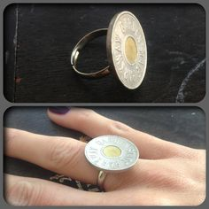 Garden State Parkway Token Ring - New! Adjustable Simple Silver setting! #iDeaHoff