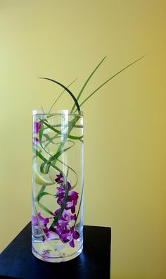Water arrangement with orchids
