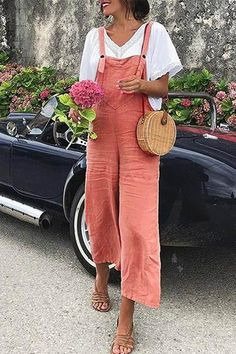 Jumpsuit Outfit, Casual Jumpsuit, Overalls Outfit, Pant Jumpsuit, Long Jumpsuits, Jumpsuits For Women, Fashion Jumpsuits, Rompers Women, Printemps Street Style