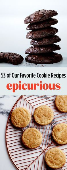 Looking for the best cookie recipes? Discover 107 our of best cookies, including chocolate chip, oatmeal raisin, peanut butter, and even easy no-bake cookies. Favorite Cookie Recipe, Best Cookie Recipes, Baking Recipes, Easy No Bake Cookies, Epicurious Recipes, Food Menu, Chocolate Cookies, Cookie Bars, Candies