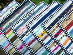 Selvage Potholders by quilts by elena, via Flickr what a cute idea