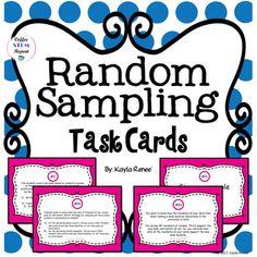 Random Sampling Task Cards: 7.SP.1